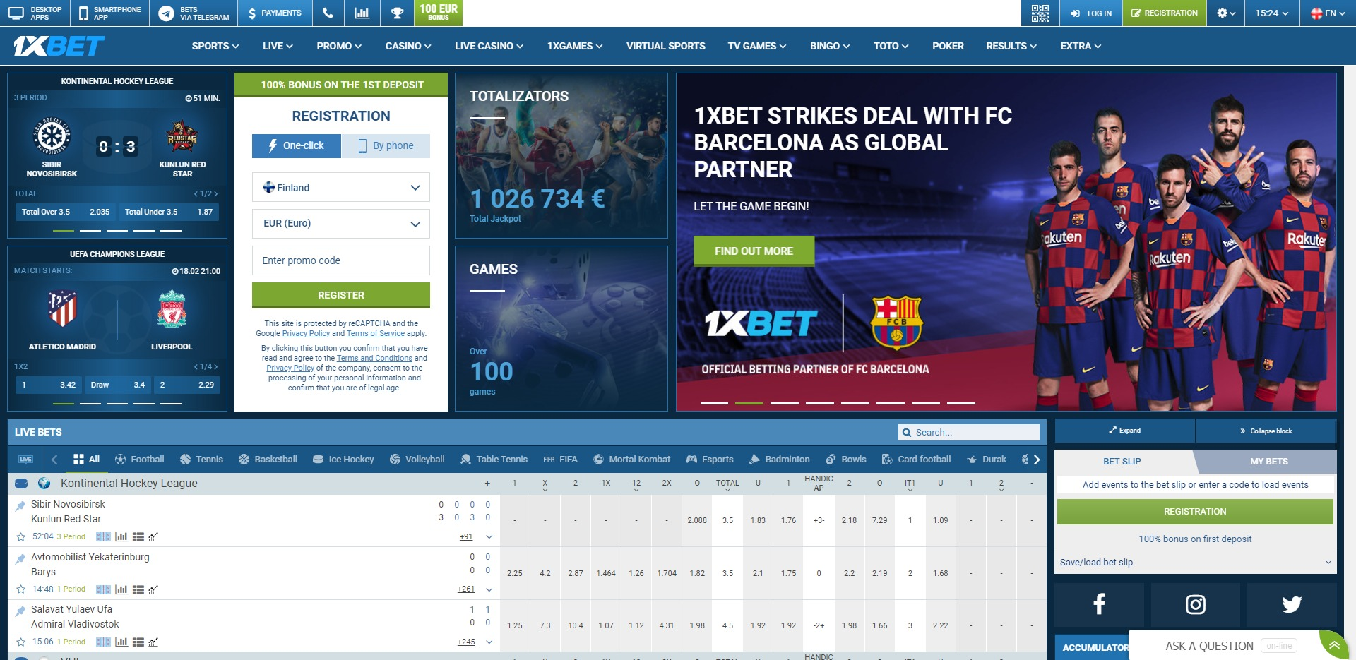 1XBET Preview