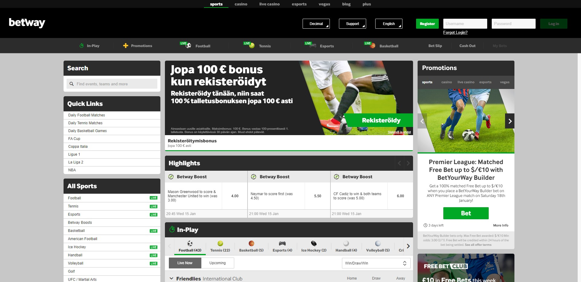 BETWAY Preview